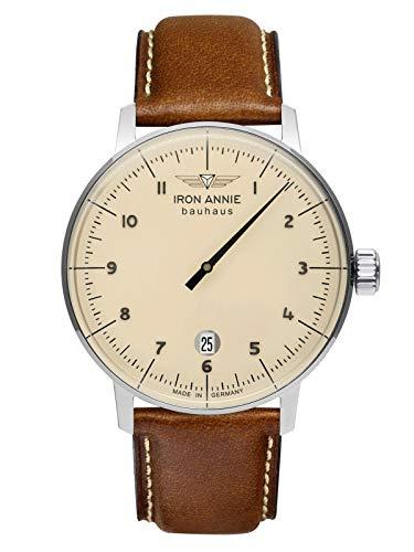 Iron Annie Herren-Armbanduhr Bauhaus 1 Monotimer Braun 5042-5