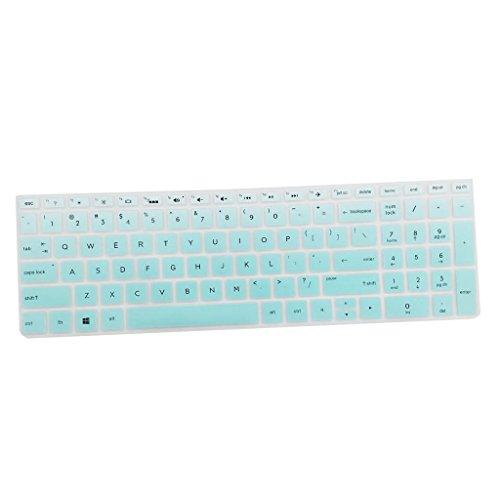 Antistaub Silikon Haut Tastatur Schutz Für HP 15.6 Zoll BF Computer Laptop - Klares Grün