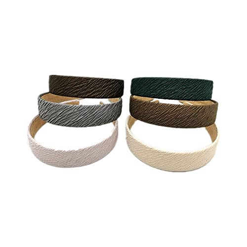 serre tete cheveux femme 6pcs micro bandeau plissé 3CM bandeau plat bandeau froissé accessoires pour cheveux