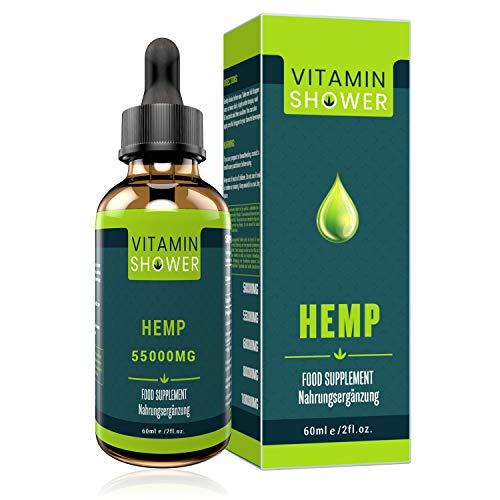 Premium Hemp Seed Oil | 60ML-55000MG | 2020 Powerful Formula | Vegan Friendly | Omega 3-6-9 | Non GMO