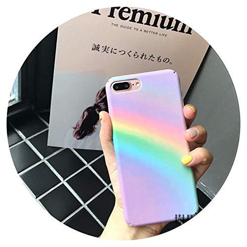 Gradiente arcobaleno Phone case per iPhone 66S 78Plus case colorato astratto arte della cover per iPhone x casi fundas For iPhone 6 6S Rainbow