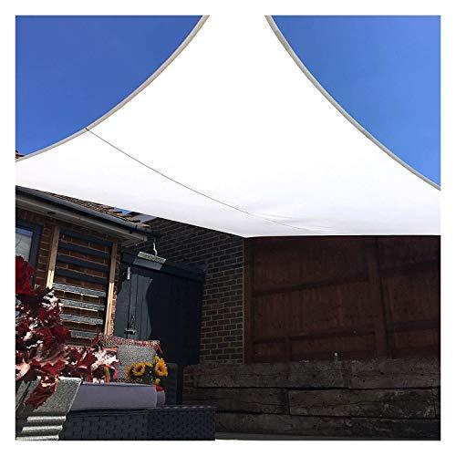 WDQJGD Toldo Vela de Sombra Toldo Transparente Toldo Vela Blanca Impermeable Protector Solar a Prueba de Agua for el jardín Toldo Toldo UV (Rectangular 4m x 4m)