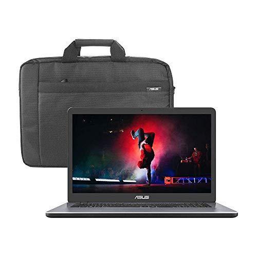 ASUS VivoBook X705MAR 17.3' HD+ Laptop (Intel Celeron N4020, 8GB RAM, 1TB Hard Drive, Windows 10) - Includes Carry Bag, Star Grey (Renewed)