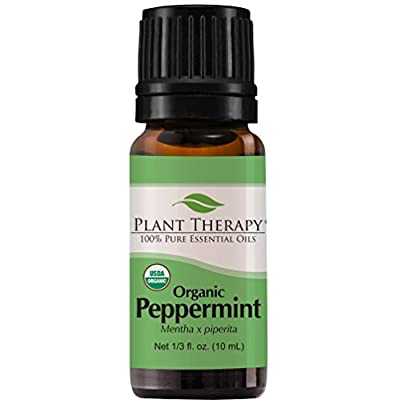 Organic Peppermint Essential Oil. 100% Pure, Undiluted, Therapeutic Grade.