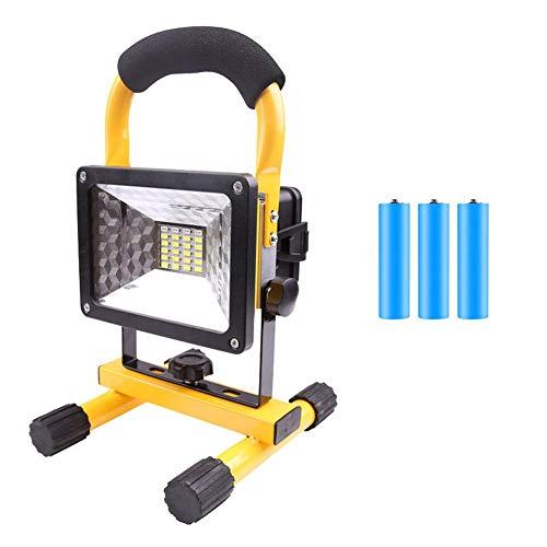 Lámpara de trabajo LED de 30 W, 3600 mAh, portátil, 24 bombillas LED, linterna de trabajo, IP44, iluminación exterior para camping, pesca, viajes de investigación