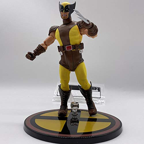 VENDISART Wolverine Figures Clothes Yellow and Grey Mezco One 12 Marvel BJD PVC Action Figure Ornaments Toy