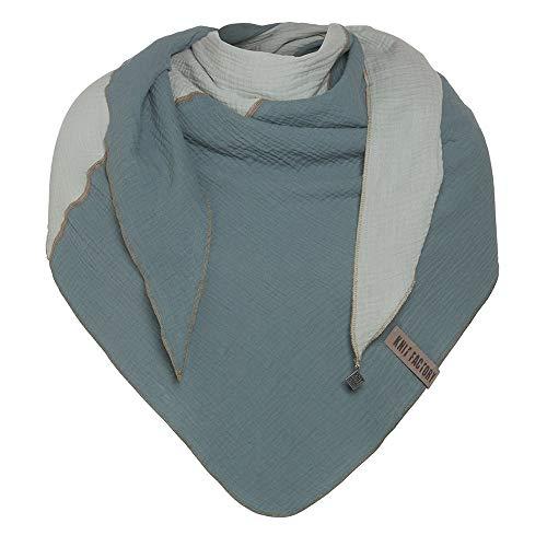 Knit Factory - Fay Dreieckstuch - Fein Gewebte Damen Schal - Für Frühling und Sommer - Hochwertige Qualität - 100% Bio-Baumwolle - Stone Green/Vintage Green