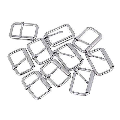 mxfans 10PIECES Roller Hardware Pin Schnalle für Rucksäcke & Kleidung Zubehör 3.2cm silber