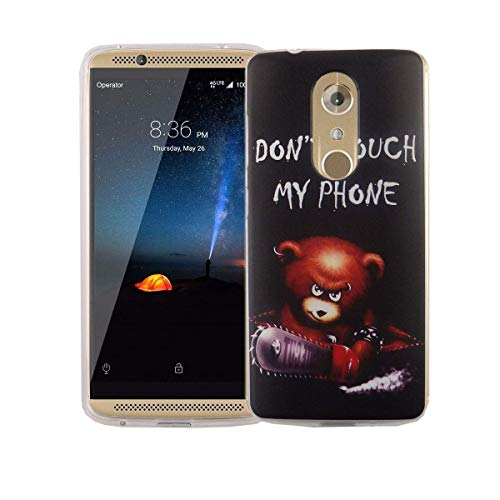 König Design gsm-hoes compatibel met ZTE siliconen case hoes valbestendig backcover telefoonhoes, ZTE Axon 7 Mini, Don't touch my Phone Beer met kettingzaag