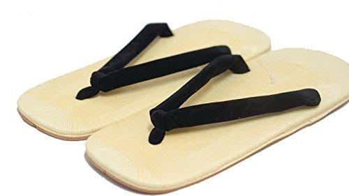 Zori Setta: chaussures sandales hommes authentiques 26.5cm historique Design Noir Tongs