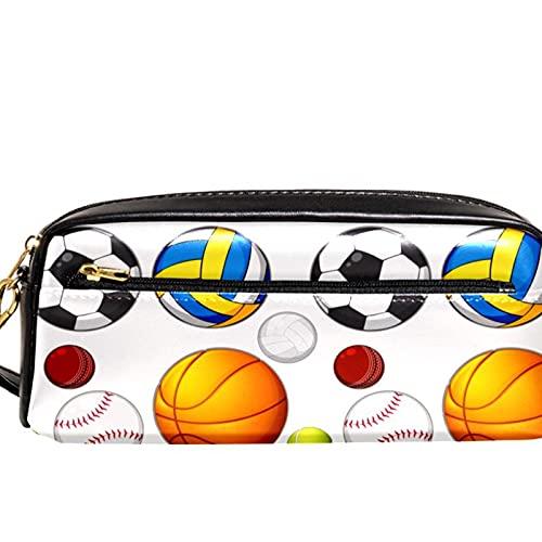 Estuche para lápices de baloncesto y fútbol con gran capacidad para lápices, organizador de bolígrafos para la escuela, adolescentes, niños, niñas, hombres y mujeres