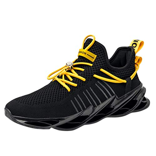 Great Price! Men's Fly Woven Breathable Running Shoes Outdoor Casual Sneakers Shoes Autumn Winter Ou...
