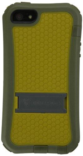 Armor-X PG-i5-AR Armor ProGear 360-deg Cover con Dispositivo di chiusura, Supporto e Clip per cintura per Apple iPhone 5/5s Bianco/Grigio