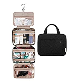 BAGSMART Toiletry Bag Large Hanging Travel Wash Bag Womens Cosmetic Bag for Full Sized Container