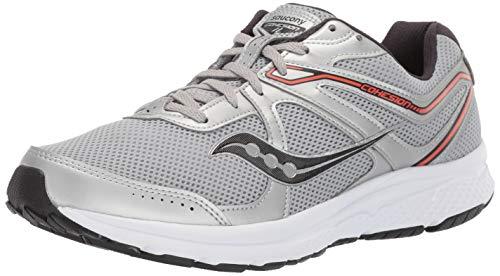 Saucony Men's Cohesion 11 Running Shoe, Silver/Orange, 7.5 Medium US