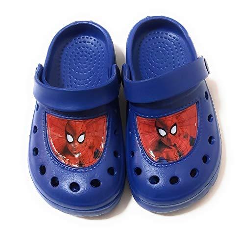 SPIDERMAN Kinder Clogs Spiderman Marvel für Strand oder Pool, Marineblau - marineblau - Größe: 30/31 EU