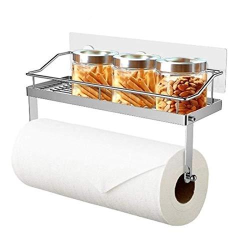 Papel adhesivo sostenedor de la toalla del estante de acero inoxidable de montaje en pared cesta del almacenaje ayuda Dropshipping