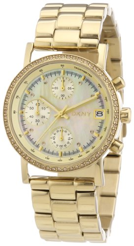 DKNY Damen-Armbanduhr Chronograph Quarz Edelstahl beschichtet NY8340