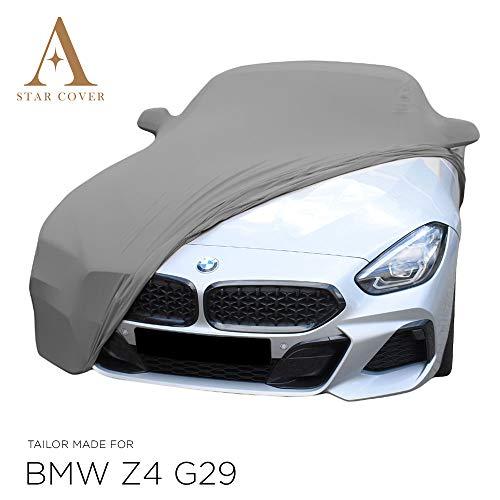 AUTOABDECKUNG GRAU PASSEND FÜR BMW Z4 G29 MIT SPIEGELTASCHEN INNEN SCHUTZHÜLLE ABDECKPLANE SCHUTZDECKE VOLLGARAGE Cover