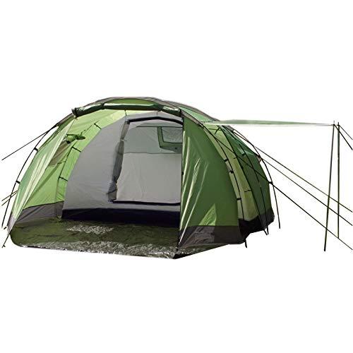 TRUTZHOLM Tunnel Tent 4 Person Family Tent Camping Tent 4 Man Tent 3000 mm Hydrostatic Head Green