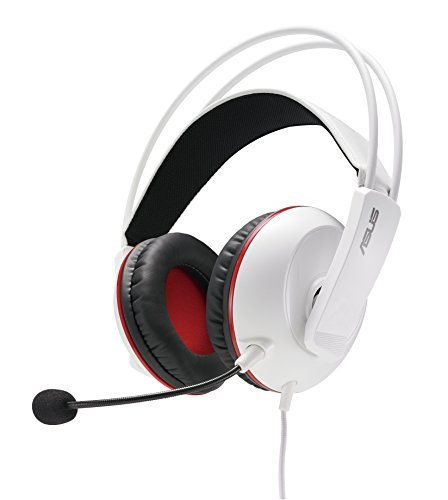 ASUS Cerberus Artic Cuffie da Gaming, Driver 60 mm, Compatibilità 4 Poli, PC, Mac, PS4, Smartphone, Tablet, Bianco