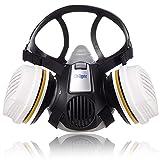 Dräger X-plore 3300 Semi máscara + Cartuchos de filtros A2 P3 RD | Respirador homologado de Seguridad para Trabajos de Pintura y Agricultura Frente a fumigantes, insecticidas, tintes