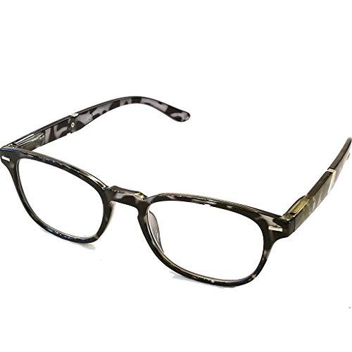 Dames leesbril heren leesbril moderne vorm en kleuren gevlekt mooie look licht veerbeugel 1.0 zwart