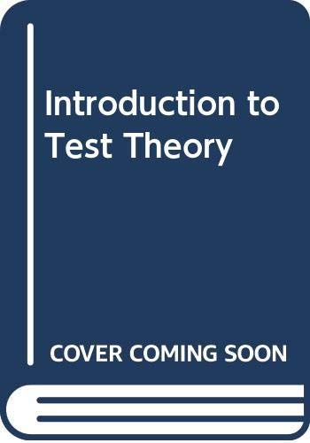 Introduction to Test Theory (English Edition)