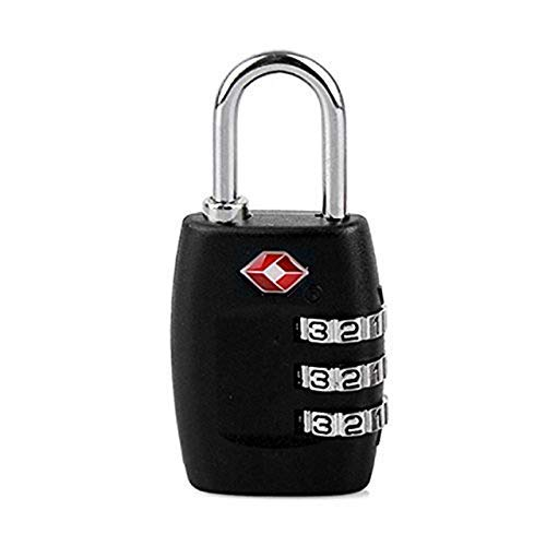 TSA Approved [2020 Latest Version] Luggage Lock, Security 3-dial Combination Padlock, Code Locks for Travel Suitcases, Luggage Bag Case School Gym Lockers, etc. (Black)