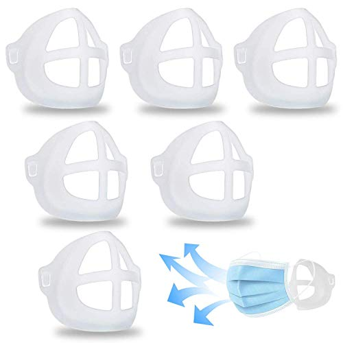 MINGYUAN 3D Silicone Bracket for Comfortable Face Covering Wearing - 6 Pcs Protect Lipstick Mask Inner Support Frame, Reusable Washable