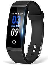 スマートウォッチ 血圧計 心拍計 歩数計 itDEAL スマートブレスレット IP67防水 睡眠検測 着信電話通知/SMS/Twitter/