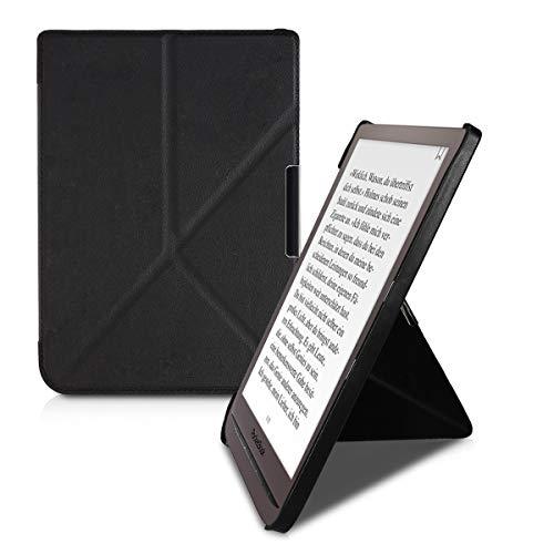 kwmobile Carcasa Compatible con Pocketbook InkPad 3/3 Pro/Color - Funda Estilo Origami en Negro