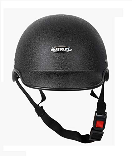 MOTOFY Habsolite All Purpose Safety Helmet with Strap, Free Size(Black)