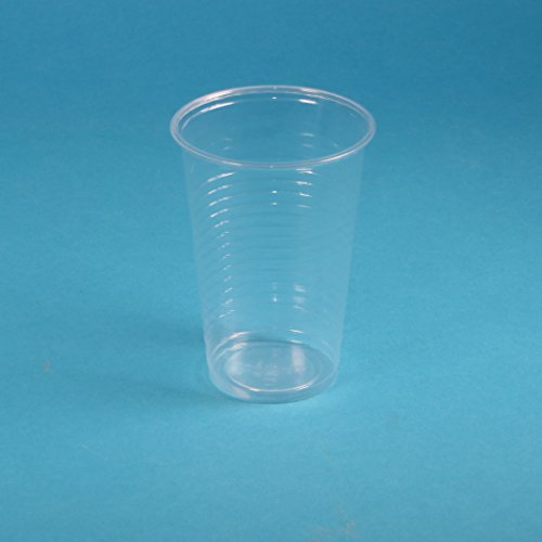 Pro DP 3000 Plastikbecher Wasserbecher Kaltgetränke Ausschankbecher Colabecher Einweg Trinkbecher Partybecher transparent/klar 200ml 0,2l PP recycelbar - Inkl. Verpackungslizenz in D