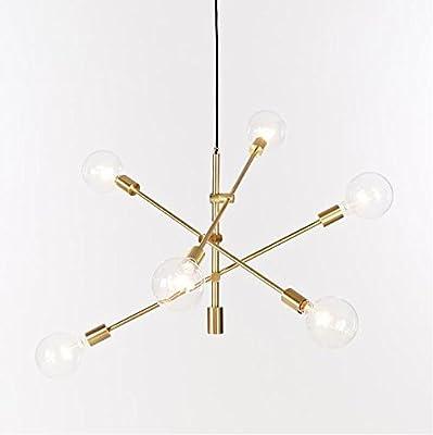 Lámpara de techo con 6 luces de fijación para lámpara de araña, lámpara de techo