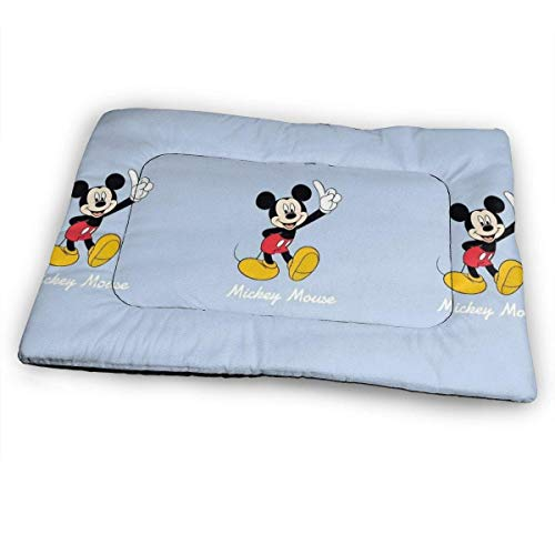YAGEAD Enorme Almohadilla para Mascotas, Alfombrilla de Cama Suave para Perros Mickey Mouse, Cama Antideslizante para Perrera para Mascotas de Gran tamaño, 31 'x21' -5J