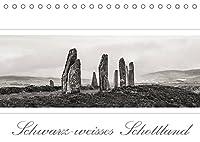 Schwarz-weisses Schottland (Tischkalender 2022 DIN A5 quer): Schottland im Breitbildformat (Monatskalender, 14 Seiten )