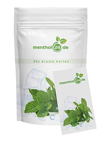 menthol24de - 30 Menthol Aromakarten - Made in Germany - Menthol aus 100% natürlicher Minze