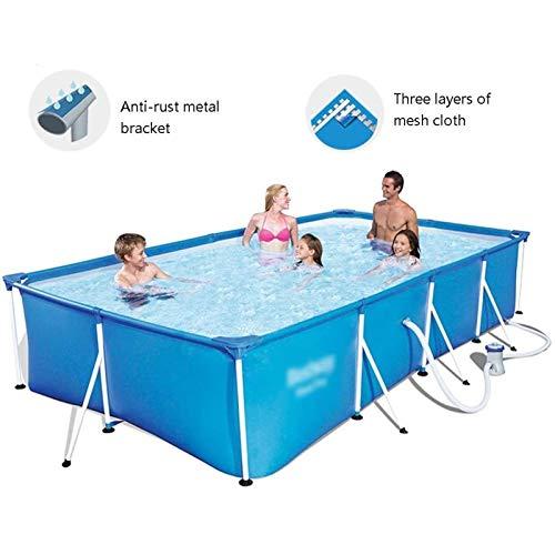 Qazxsw Piscina para niños/Soporte Piscina/Hogar para Adultos Piscina para niños/Pescado al Aire Libre Estanque/Piscina Grande Piscina/Espesamiento de Tres Capas,Azul,400 * 211 * 81cm