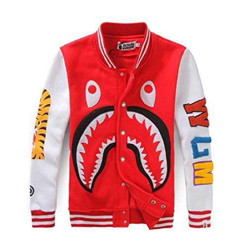 Fashion Casual Bape Ape Shark Camo Hoodie Teenage Sweatershirt Hip-Hop Funny Tops Full Zipper Jacket for Men Women