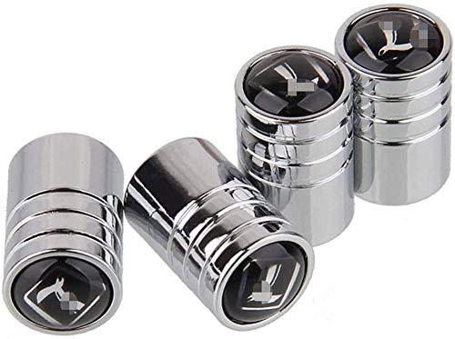 HerTui 4pcs Tapas de Vástago de Válvula de Neumático para Luxgen 5 7 SUV U6 Turbo U7 Turbo M7 S5 U5 Infiniti Lexus Mini Cooper Chrysler, para Evitar Fugas de Aire