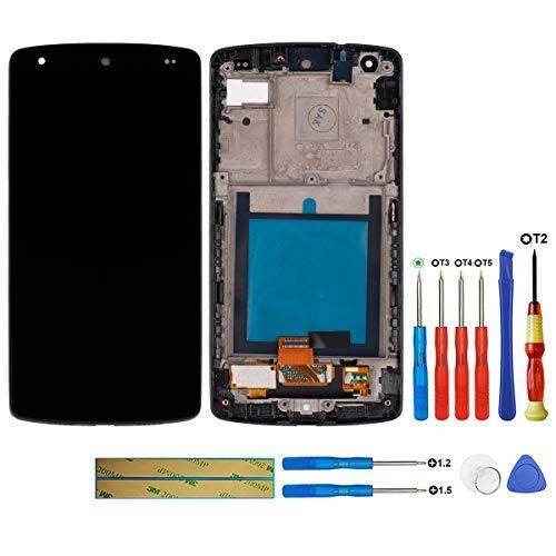 swark LCD Display Touch Screen Rahmen Front Glas Scheibe Für LG Google Nexus 5 D820
