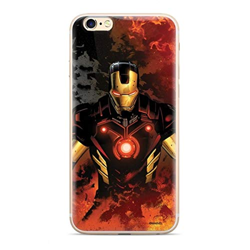 Finoo Custodia Compatibile per iPhone 5/5S/SE – Marvel Cover con motivo e protezione ottimale TPU Silicone Custodia Case Cover – Iron Man V1