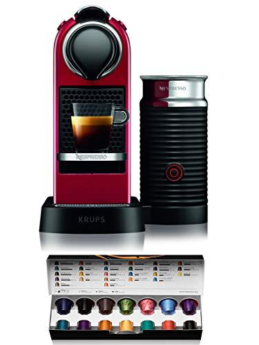 Krups XN7615 Nespresso Citiz&Milk Kaffeekapselmaschine (1260 Watt, Wassertankkapazität: 1l, Pumpendruck: 19 Bar) rot