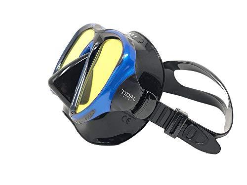 Pro Shot Tidal Mask for Snorkeling and Scuba Diving Best Anti-Fog Technology (Blue Reflective Lens)