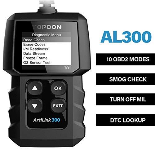 TOPDON AL300 Outil Diagnostic Auto avec Fonctions OBD2 Complètes, Lecteur de Code OBD2 pour Éteindre Le Voyant du Moteur, Vérifier l'État de Préparation I/M, Lire VIN/Flux de Données