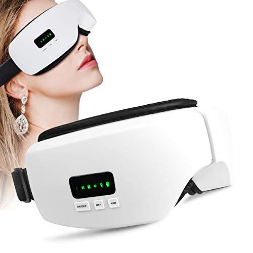 NBD Masseur Occulaire Électrique pour Massage,Lunettes de massage rechargeables avec vibration, compression de l'air, chaleur, musique