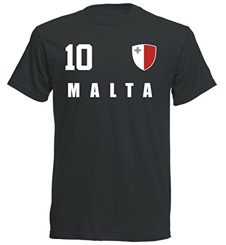 Malta WM 2018 T-Shirt Trikot - schwarz ALL-10 - S M L XL XXL (S)