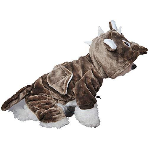 Eyxia-Pet-Master vacker mjuk varm valpkappa Cos Little Dragon – fleece-foder hundvinterkläder kallt väder hundväst kostym för små hundar och valpar (färg: Dark brown, storlek: M)