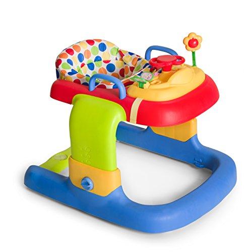 Hauck 2in1 Walker - Tacatá y andador apto para 6 meses hasta 12 kg, juego de mesa multifuncional con ruedas, juegos y asiento desmontables, con luces, regulable en altura, Dots (multicolor)